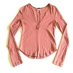 WE THE FREE Free People Basic Henley Top Size M